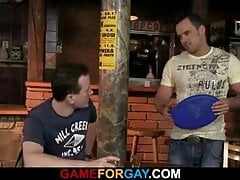 Barman's first gay blowjob and sex