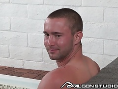 FalconStudios JJ Knight Cumswaps at the Sauna