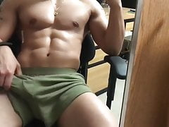 Hunk show his cock