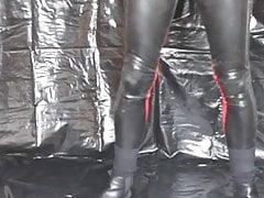 latex display, wank and cum with poppers