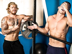 Blake Ryder and Jake Porter fucking at the gym