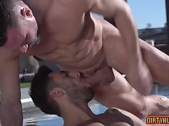 Muscle bear anal and cumshot