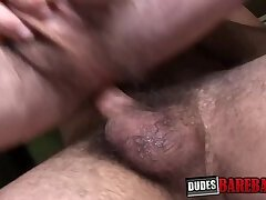 Cock riding bareback action with Joel Buster and his buddy