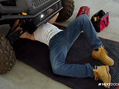 Stuck Mechanic Blown Under Car - NextDoorStudios