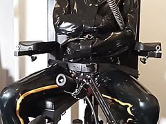 Fucking & Milking machines for the rubber gimp