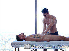 GayRoom greasy massage screw with supple hunks