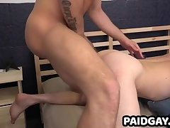 Stud Zeno Kostas fucks straight virgin's ass bareback