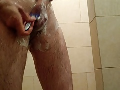 Me shaving my dick