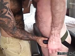HAIRYANDRAW Tattooed Atlas Grant Bareback Pounded After BJ