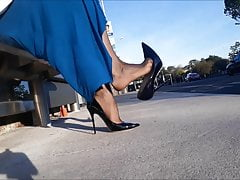Dangling stilettos at bus stop2