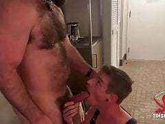 Cody Winters' Throat Swallows Hairy Dick