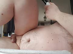 Prostate milking with toy