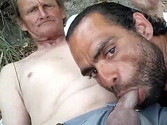 throating A Homeless man cock