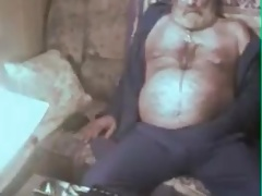 grandpa cum on webcam