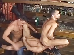 3 hot men in bar
