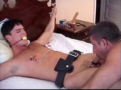 young Cop gets manhandled by Leather father - II