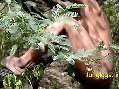 Indian jungle boy roaming in jungle