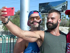 3 Testosterone total Beardy guys Ramming Each Other - Drake Masters, Carlos Lindo, Max Duro