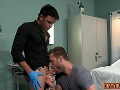 Muscle doctor anal sex with cumshot
