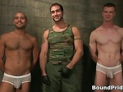 Nice looking guys interview before gay BDSM