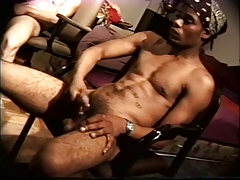 Horny gay friends jerk off together