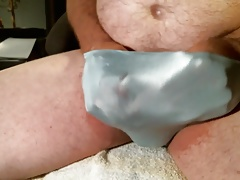 Squirting cum in my panties