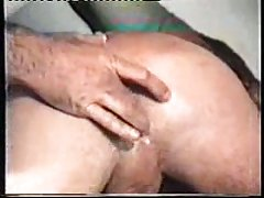 Horny bear drills his friend with dildo