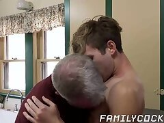 Forbidden sex between jock stepson and his hairy stepdad