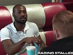 RagingStallion Big Fat Meat Orgy at the Diner!