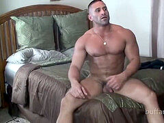 jaw-dropping Muscle Hunk tied and kittled - Sam Rizzo