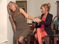 Marbella ladys in pantyhose, pantyhose and stilettos