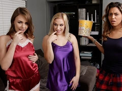 Two sensual angels Alex Blake and Daisy Lynne fuck in the bedroom