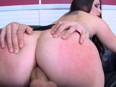 Big Butt Boss Lola Foxx taking a big cock in her pussy & ass in her office