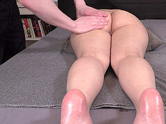 lubricant massage TURNS INTO ORGASMIC elation - GERMAN AMATEUR SHANOA SILVER