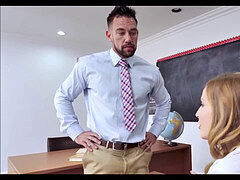 Hot Blonde High school teenager Karla Kush anal Fuck From Teacher After Getting Out Of Trouble