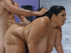 Lavish BBW babe gets plowed hard by a thick monster cock