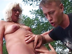 Granny Outdoor Sex