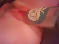 Sexy Slut Births a Bottle and Gapes Her Pussy