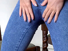Natalia Forrest denim wetting Compilation