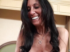 Cameraman fucks mature brunette doggystyle in the hotel room