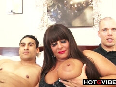 BIG BEAUTIFUL WOMAN mature Gets Spit Roasted By 18Yo Schoolgirl Studs - amateurs