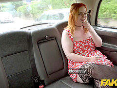 fake cab Ginger pecker monster deepthroats and anal