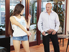 DADDY4K. Nice dad and 18-years-old girl copulation finishes with...
