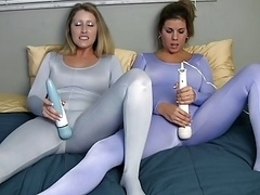 Spandex lesbians with vibe 2