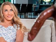 White angel Adira Allure feels a long black prick in her little crack