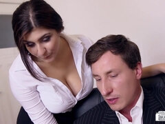 Secretaries and hot office sluts boned right at work