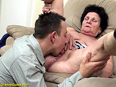 unshaved 86 years old mom needs a youthful spunk-pump
