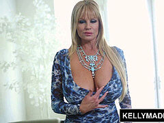 KELLY MADISON - taunting in Blue undergarments and hooter Fucking
