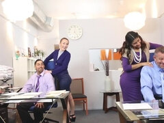 Interview with beauties means sex for stepfathers in the office