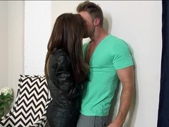 Beautiful milf Devyn Cole consoled Levi with her pussy as she fucked him with a passion